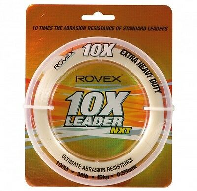 Rovex 10X Formula Monofilament Leader Line 100 metre spools in various sizes