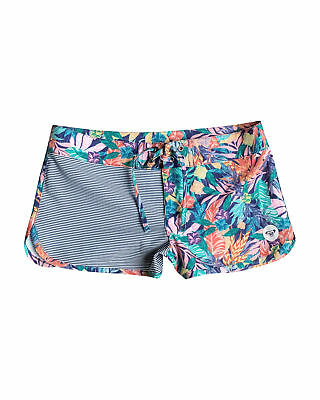 "NEW ROXY™  Girls 8-14 Japanese Fan 7"" Classic Boardshort Teens"