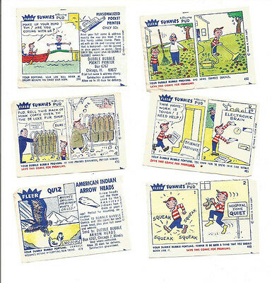 1960's Fleer Dubble Bubble Gum Comics Lot (9)
