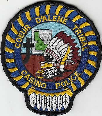 Coeur D'alene Tribal Casino Police Tribal Patch Idaho Id