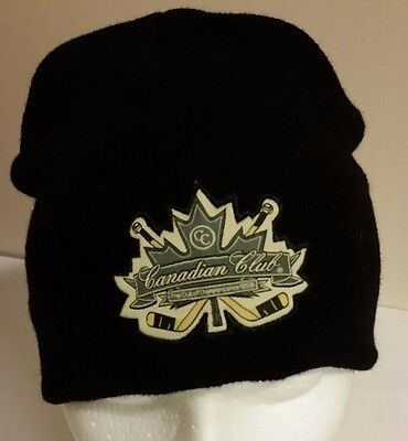 Canadian Club Rye Whiskey Classic Hockey Beanie Style Toque Hat