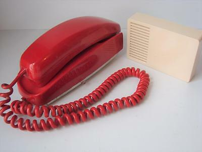 Vintage Trimline Push Button Telephone Wall Phone Cherry Red WORKS James Bond