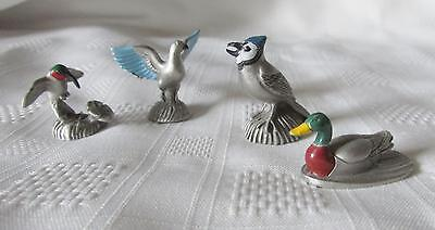 """GS PEWTER  MINIATURE  BIRDS  Signed LAMB  1.25"""" Inches"""
