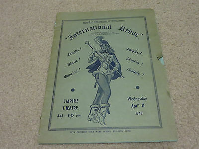 1945 Port-of-Spain Trinidad Entertainment Program Coca Cola Coke  Empire Theatre