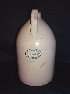 "1881-1890s ES&B Whiskey Jug HAYNER DISTILLERY LOCK BOX 290 DAYTON OH 14""Tall"
