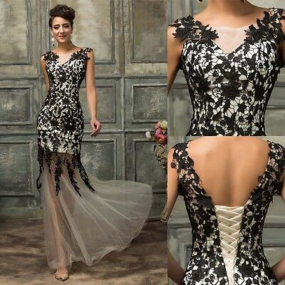 MASQUERADE Long Cocktail Dress Formal Wedding Evening Party Prom Ball Gown NEW