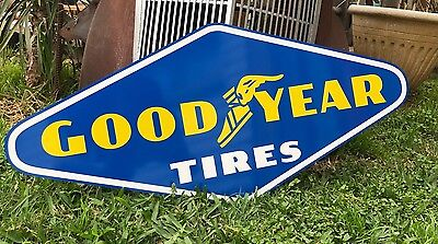 Antique Vintage Old Look Good Year Tires Gas Oil Sign 30""