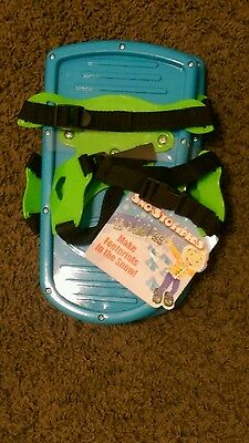 New Blue Ideal Sno-Stompers Kids Snow Shoes Bear Tracks Print