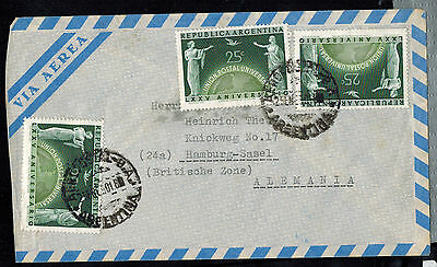 Argentina 1950  Multi Franked Air Mail  Cover * Resistencia To Hamburg, Germany