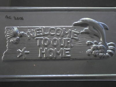 Reusable Dolphin WELCOME TO OUR HOME Plaque Mould