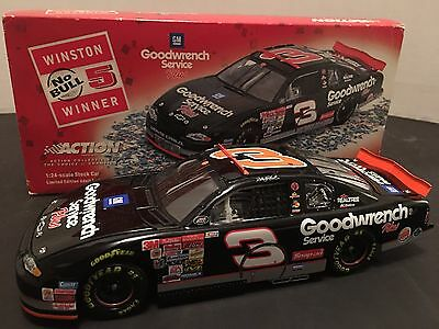 Nascar diecast Action 1/24 Dale Earnhardt SR #3 Winston No Bull Winner In Box