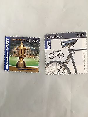 100 Mint $2.95 ( 2 Stamps ) Australian International postage Stamps, MNH, FV$295