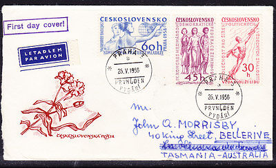 Czechoslovakia 1958 Cultural Events First Day Cover. - Addressed