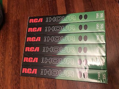 RCA 6 Hour T120 VHS Tapes New Sealed Pack Of 6