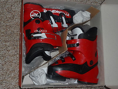 Kids Ski Boots ROSSIGNOL RED With Buckles Gorgeous s 18,5 MINT! WOW! L@@K!