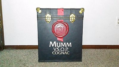 MUMM VSOP V.S.O.P Cognac Leather Trunk Case Storage Bin