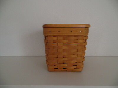 Longaberger-1998-Tall-Tissue-Basket-Combo-with-Lid