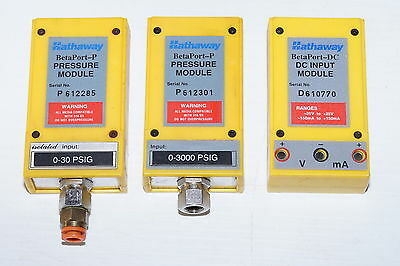 Hathaway BetaPort-P Pressure Modules and DC Input Module 0-30psi 0-3000psi