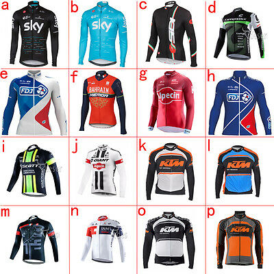 For Winter ! 2017 New Men's Thermal Fleece long sleeve cycling jersey Race Fit
