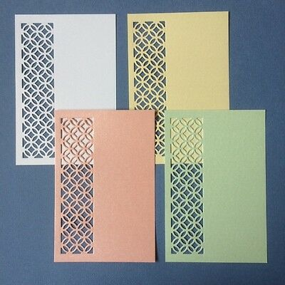 scrapbooking die cuts, flowers embellishments card toppers x 4