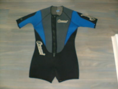 Cressi Mens Small To Medium Front Zip Shorty Wetsuit.