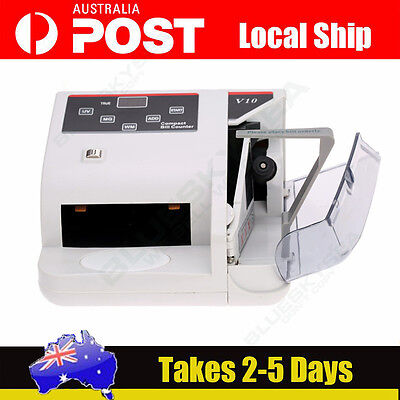 Sydney! V10 POS Money Bill Note Counter Counting Machine Banknote Counters White
