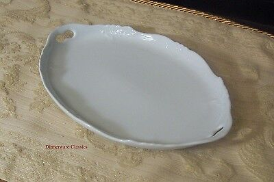 Hutschenreuther Baronesse White Oval Tray 10 inch, new Rosenthal