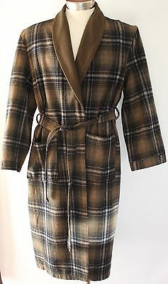 Mens Green Wool Dressingown. Made In Australia By Robemaker.