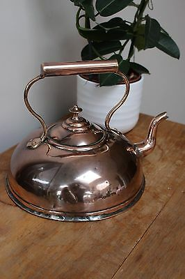 Unusual Original Victorian Antique Copper Kettle c1860..1880, Old Vintage