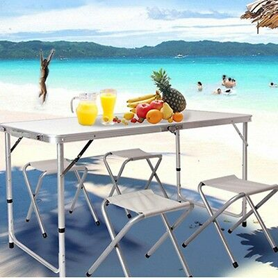 4ft Heavy Duty Folding Table Picnic Party Camping Banquet Garden Table White BBQ