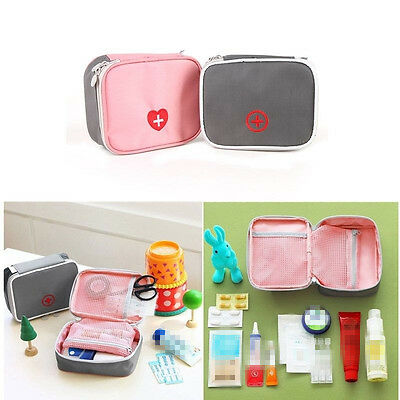 Home First Aid Kit Portable Carry Medicine Package Medical Organizer Zipper Bag