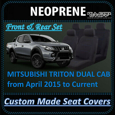 Waterproof Neoprene Seat Covers - Mitsubishi Triton MQ Double Cab: 04/2015 - on