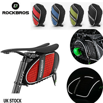 ROCKBROS Reflective Rear Seatpost Bicycle Bag Rainproof Saddle Cycling Bike Bag
