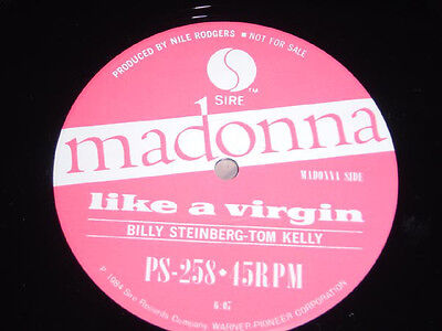 """Madonna RARE Like a Virgin Japan promo only 12"""" single unique picture cover"""