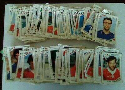Panini Mexico 86 huge lot of stickers used/cut/recovered.Over 250 lot incl foils