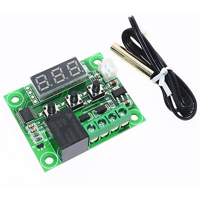 12V Digital Thermostat Temperature Sensor Relay Switch On/Off Controller Board