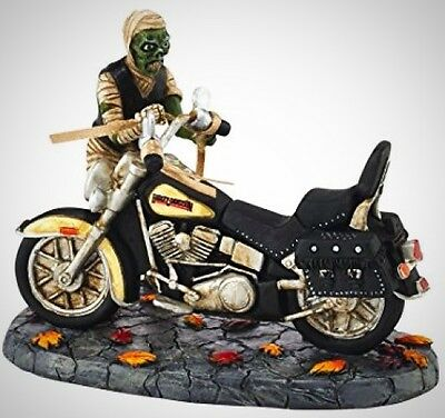 Halloween Village Mummy with Harley Davidson Motorcycle 7cm Tall Department 56