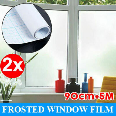 2X 90cm*5m Sand Blast Clear Privacy Frosted Removable Window Glass Film AU Stock