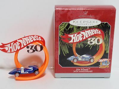 Hot Wheels hallmark ornament 30 years silhouette 6209 christmas 1998 QX6436 MIB
