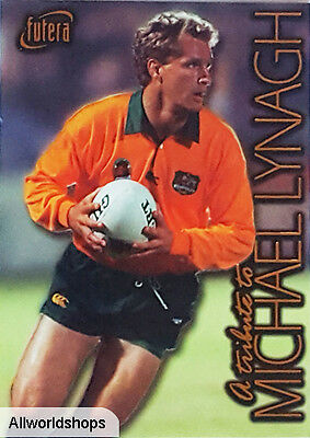 1996 Australian Rugby SAMPLE Michael Lynagh Tribute Card