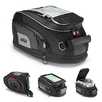 Givi XS307 Xstream Tanklock Expandable Tank Bag 15 Litre Black  GPS Holder