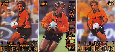 1996 Australian Rugby SAMPLE Michael Lynagh Redemption Set (3)
