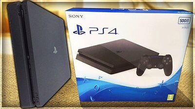 Sony PlayStation 4 PS4 Slim BLACK 500 GB With Extra Controller