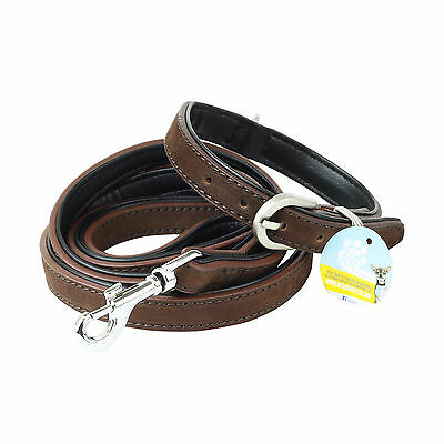 Me & My Pets Extra Small Real Leather Dog/puppy Collar & Walking Lead/leash Set