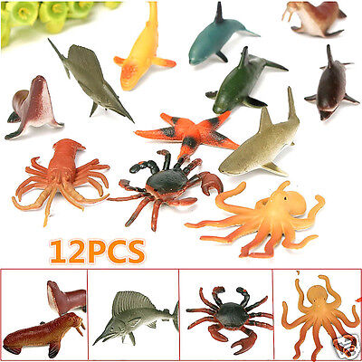 Happy Children's Day!Best Gift!Hot!12Pcs Simulated Animal Toy Landscape Ornament