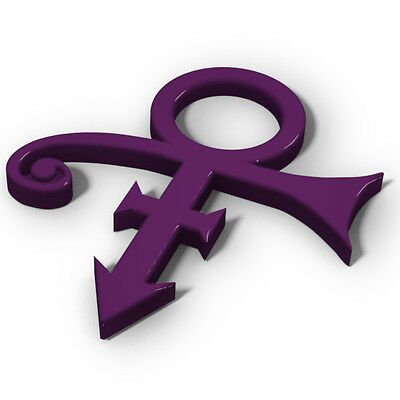 Prince Love Symbol Memorial RIP Decal 3D Emblem - Purple Rain