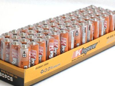 60 Pack AA Batteries Extra Heavy Duty 1.5v. 60 Pack wholesale Lot.