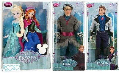 Disney Frozen Anna,elsa,kristoff And Hans  - Bnib