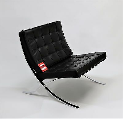 Knoll BARCELONA Original Black Leather Chair