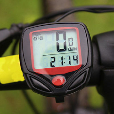 LCD Bike Computer Waterproof Speedometer Bicycle Electronic Wired Cycling